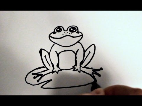 how to draw a cartoon frog v2 youtube