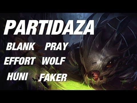 """PARTIDAZA! El mejor ADC de Korea """"Pray"""" + Faker, Huni, Mvp Max, Blank vs Wolf y Effort!"""