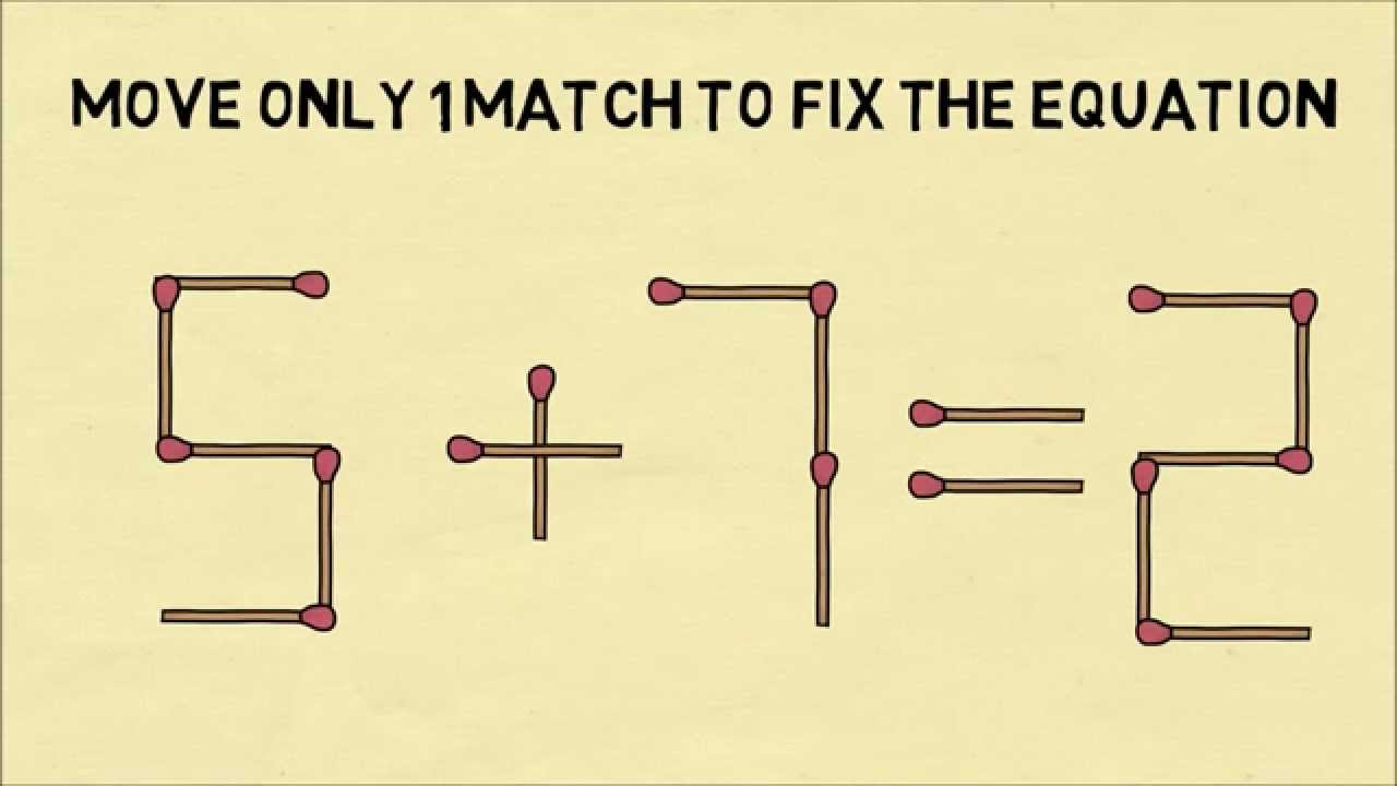 Tricky Matchstick Equation