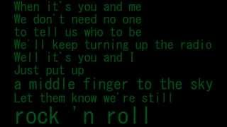 AVRIL LAVIGNE ROCK N ROLL Lyric + FREE DOWNLOAD mp3