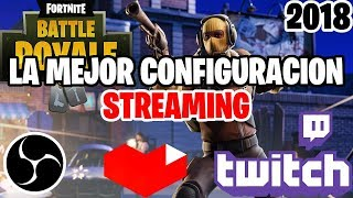 HOW TO MAKE STREAMING / A DIRECT FORTNITE IN YOUTUBE/TWITCH WITHOUT LAG WITH OBS