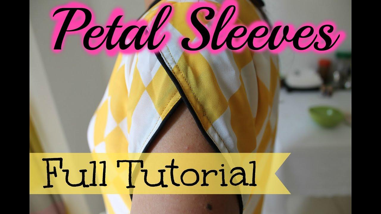 petal sleeves full tutorial youtube