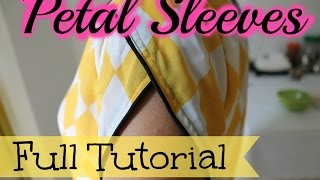Petal sleeves- Full tutorial
