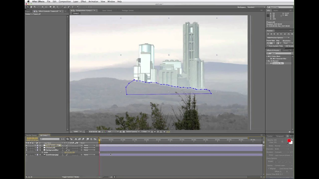 Video tutorial: Create an Edge Blur in After Effects