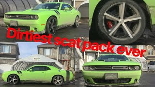 Deep Cleaning The Dirtiest Challenger Ever Seen On YouTube | Exterior Car Detailing
