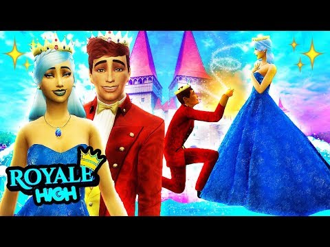 👑💍THE ROYALE HIGH WEDDING!💒💘 The Sims 4 Royal High School #9 ✨