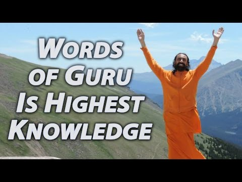 Patanjali Yoga Sutras Part9 - Swami Mukundananda - Words of the Guru is the highest knowledge