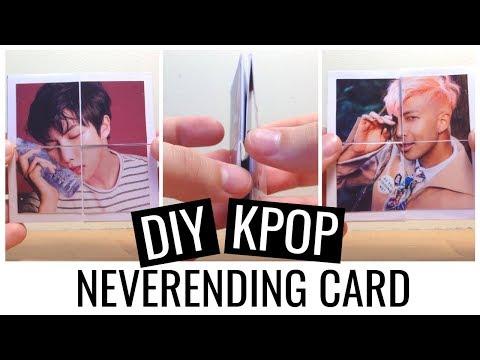 Easy DIY KPOP (BTS) Neverending Card TUTORIAL