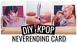 Easy DIY KPOP (BTS) Neverending Card TUTORIAL