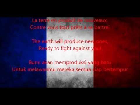 Lagu Kebangsaan Perancis - La Marseillaise ( Sub Indonesia )