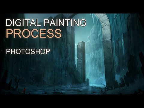 Digital Painting - The Frost Valley - Time-lapse