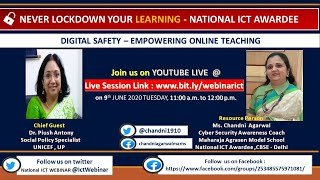 Cyber Security   Digital Safety   National ICT Webinars   Day 04   Empowering Online Teaching
