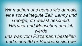 Reinhard Mey - Ich Lass' Dich Nicht Allein Lyrics
