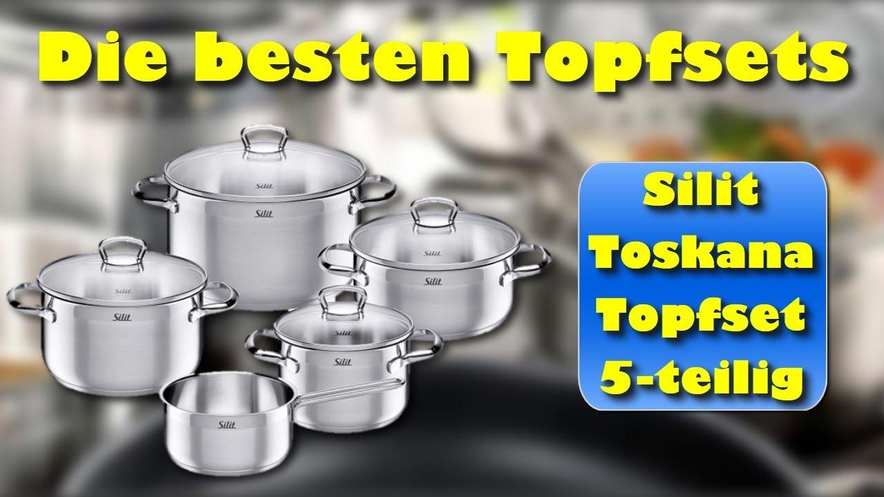 Silit Toskana Topfset 5 Teilig Mit Glasdeckel