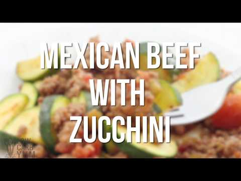 Mexican Beef with Zucchini Skillet Recipe