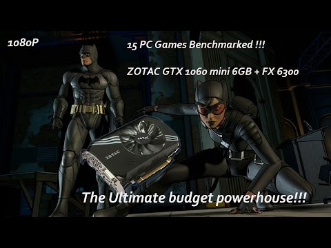 GTX 1060 mini gaming!! The budget powerhouse!! 15 games benchmarked in 20 minutes!!!