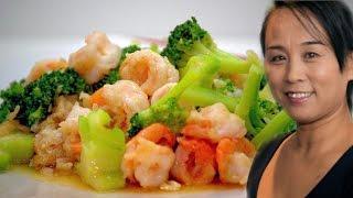 Prawn u0026 Broccoli Stir Fry (Chinese Style Cooking Recipe)