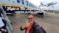 Flight to The Algarve Portugal & Landing at Faro Airport