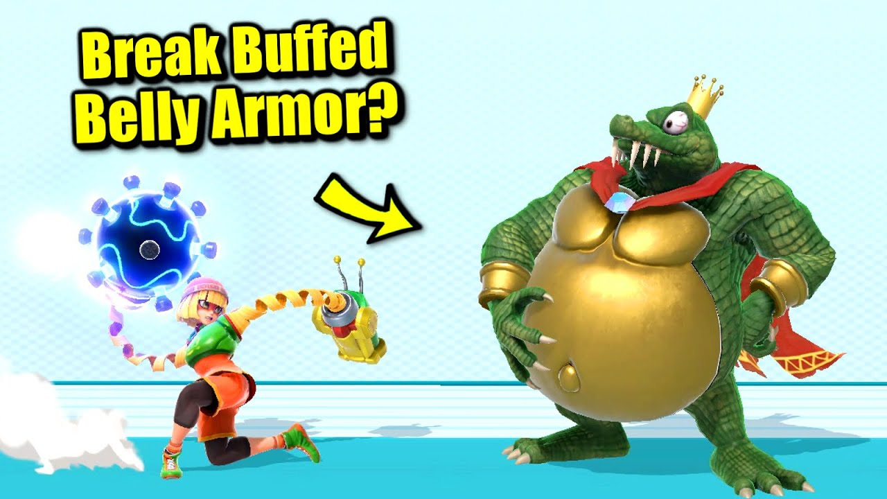 Who Can Break King K. Rool's BUFFED Belly Armor in One Hit in Super Smash Bros. Ultimate?