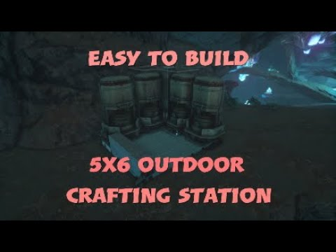 6x5 Outdoor Crafting Station Build| Easy To Build| Ark Survival Evolved|L3GGY