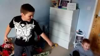 Random kid punching my brother