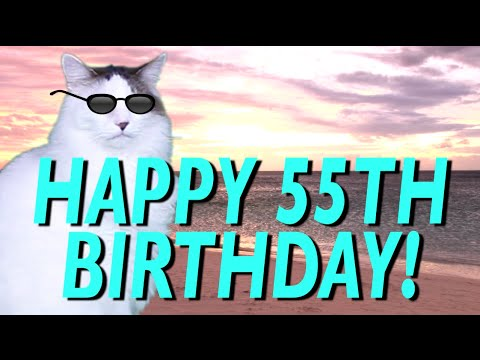Ecards 123 Greetings Happy 55th Birthday Epic Cat Song