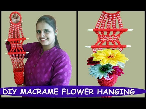 HOW TO MAKE Macrame Flower Hanging Easy