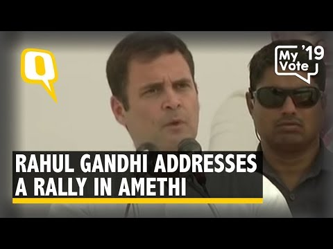 Congress President Rahul Gandhi Addresses a Rally in Amethi, UP