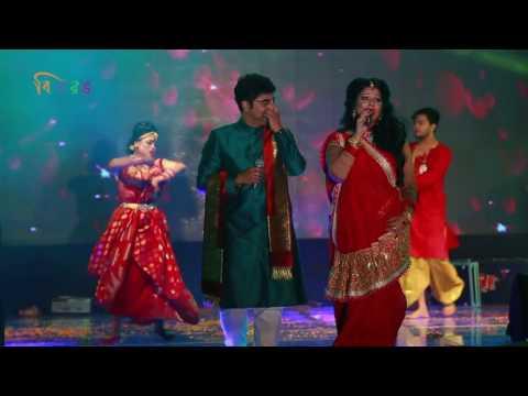 Banani Durga Puja Show 2016 Amaro Porano Jaha Chay By Biplob Saha & Konal