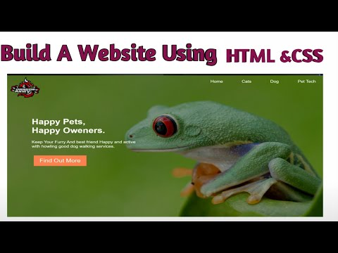 Make Website In 10 Minuts Using Only HTML&CSS ||Only Code