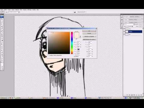 girl head drawing