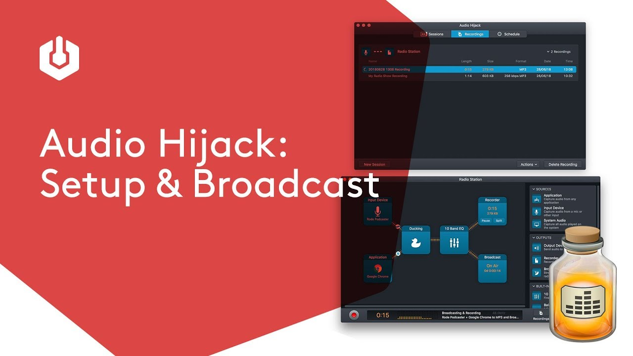 Audio Hijack: Record and Broadcast Radio Shows Online