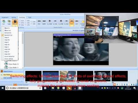 KYSTAR U6 Video Processor (video Processor With Six Windows And 8 Input 4 Output)