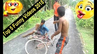 Top 5 village Funny Videos Funny Video Laughing  You Can't Stop 100%  2018  Jewels Funny