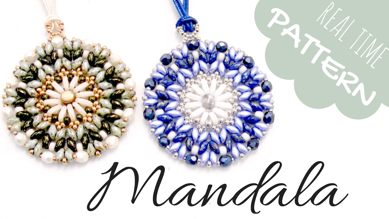 Beading tutorial mandala pendant with superduo bar y miyuki youtube beading tutorial mandala pendant with superduo bar y miyuki aloadofball Image collections