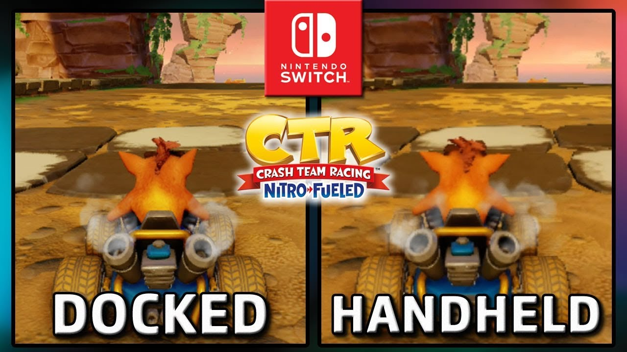 Crash Team Racing Nitro-Fueled | Docked VS Handheld & Split Screen | Frame Rate TEST on Switch