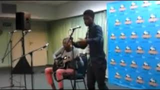 Mlindo The Vocalist perfoming at uShaka Marine with Blendor on the Guitar. This guy can sing!!
