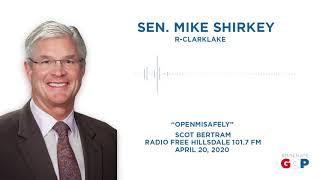 Sen. Shirkey joins Radio Free Hillsdale to discuss Reopening Michigan Safely