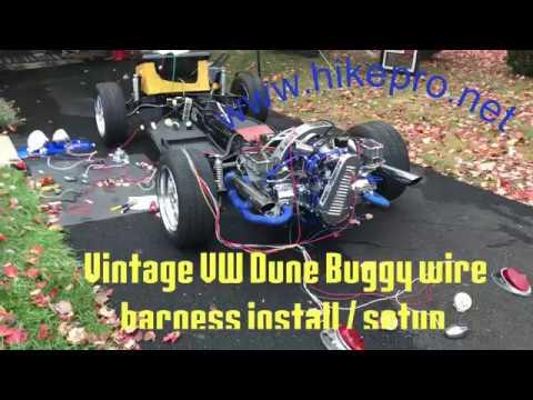 vintage bug vw dune buggy build full wiring setup wire harness install  fuse dash  engine