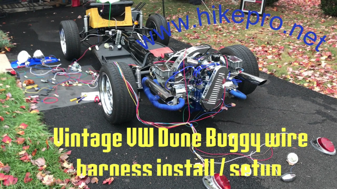 vintage bug vw dune buggy build full wiring setup wire harness wiring diagram buggy build [ 1280 x 720 Pixel ]