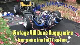 Vintage Bug VW Dune Buggy build Full Wiring setup wire harness install  fuse, dash & engine - YouTube | Rebel Dune Buggy Wiring Harness Diagram |  | YouTube