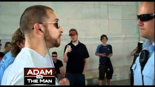adam kokesh arrested the jefferson memorial lead up to the june 4th worldwide dance party