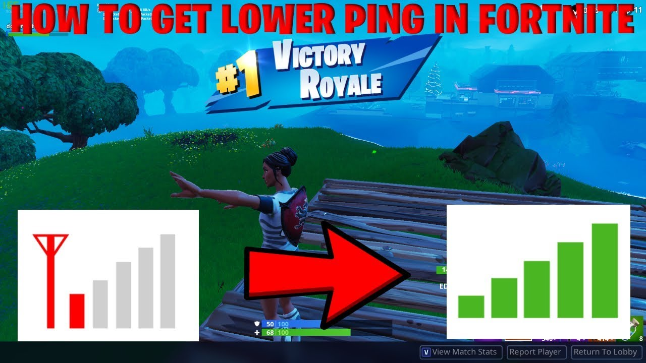 FORTNITE - HOW TO GET BETTER PING AND LOWER PACKET LOSS