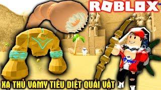 ROBLOX | Cung Thủ Vamy Đập Chai Tiêu Diệt Siêu Quái Thú | Archer Simulator | Vamy Trần