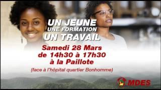 UN JEUNE, UNE FORMATION, UN TRAVAIL Assemblée Générale du MDES