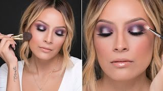 Purple Holiday Makeup Look Thumbnail
