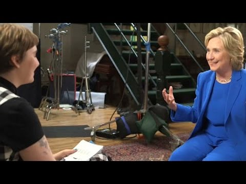 Hillary Clinton and Lena Dunham Discuss Feminism