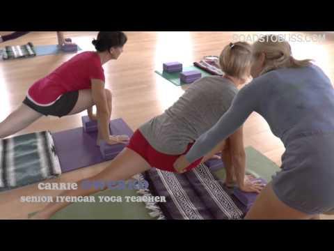 Balance - Lunge Forward with Senior Iyengar Yoga Teacher Carrie Owerko