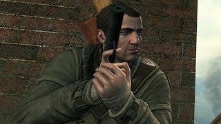 Sniper Elite V2: St. Pierre DLC Gameplay & Stealth Pistol Kills