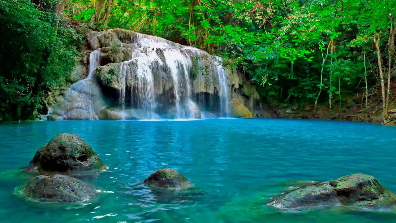 Assez Musique Douce et Paysage Apaisant - Cascade Relaxant - YouTube OY34